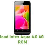 Intex Aqua 4.0 4G Stock ROM