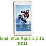 Intex Aqua 4.5 3G Stock ROM