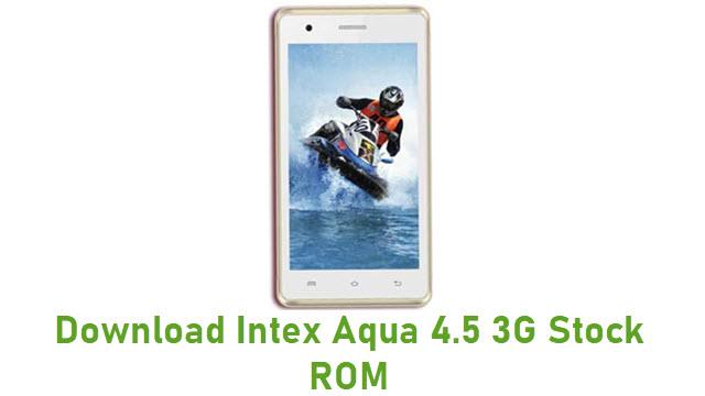 Download Intex Aqua 4.5 3G Stock ROM