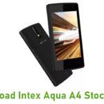 Intex Aqua A4 Stock ROM