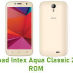 Intex Aqua Classic 2 Stock ROM