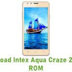 Intex Aqua Craze 2 Stock ROM