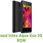 Intex Aqua Eco 3G Stock ROM