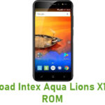 Intex Aqua Lions X1 Stock ROM