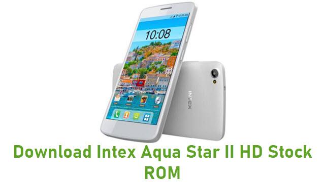Download Intex Aqua Star II HD Stock ROM