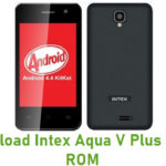Intex Aqua V Plus Stock ROM