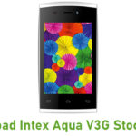 Intex Aqua V3G Stock ROM