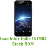 Intex Indie 15 IM0418ND Stock ROM