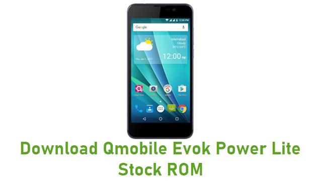 Download Qmobile Evok Power Lite Stock ROM