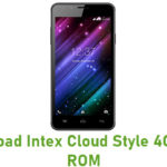 Intex Cloud Style 4G Stock ROM