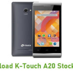 K-Touch A20 Stock ROM