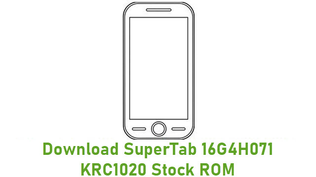 Download SuperTab 16G4H071 KRC1020 Stock ROM