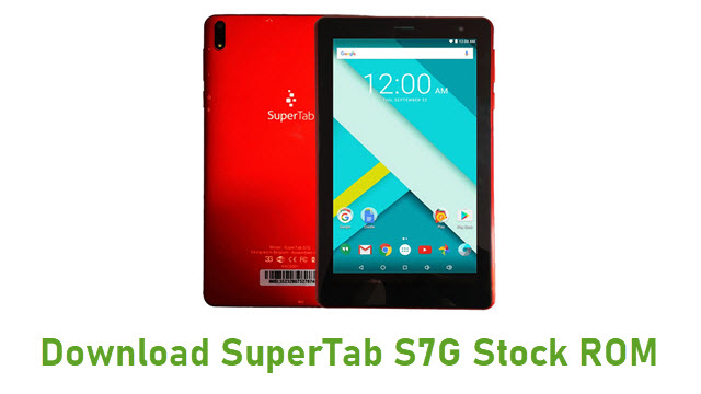 Download SuperTab S7G Stock ROM