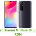 Xiaomi Mi Note 10 Lite Stock ROM