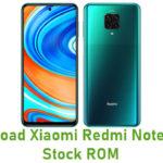 Xiaomi Redmi Note 9 Pro Stock ROM