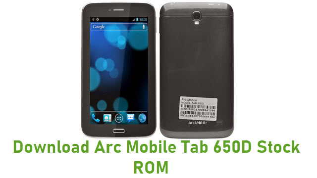 Download Arc Mobile Tab 650D Stock ROM