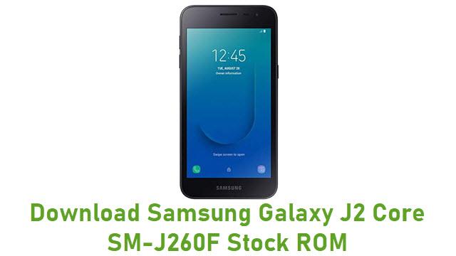 Download Samsung Galaxy J2 Core SM-J260F Stock ROM