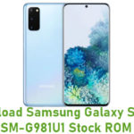 Download Samsung Galaxy S20 5G SM-G981U1 Stock ROM