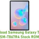 Samsung Galaxy Tab S6 SM-T867R4 Stock ROM