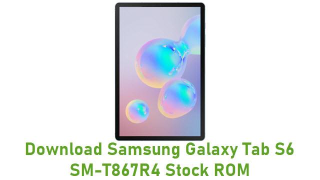 Download Samsung Galaxy Tab S6 SM-T867R4 Stock ROM