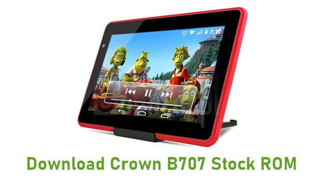 Download Crown B707 Stock ROM
