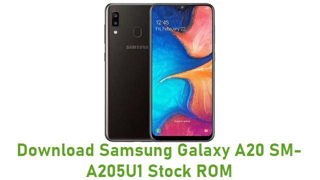 Download Samsung Galaxy A20 SM-A205U1 Stock ROM