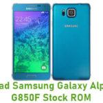 Samsung Galaxy Alpha SM-G850F Stock ROM