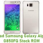 Samsung Galaxy Alpha SM-G850FQ Stock ROM