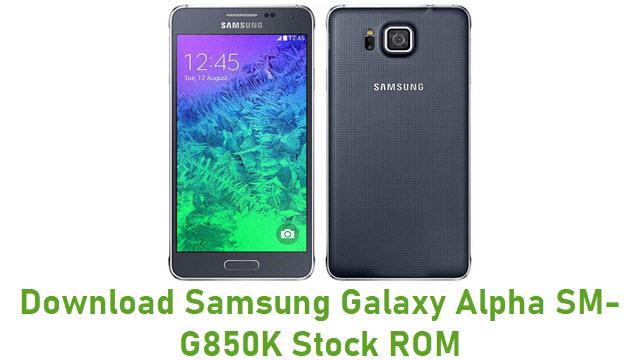 Download Samsung Galaxy Alpha SM-G850K Stock ROM