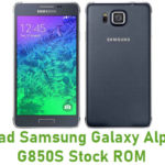 Samsung Galaxy Alpha SM-G850S Stock ROM