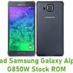 Samsung Galaxy Alpha SM-G850W Stock ROM