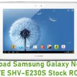 Samsung Galaxy Note 10.1 LTE SHV-E230S Stock ROM