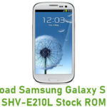 Samsung Galaxy S III LTE SHV-E210L Stock ROM