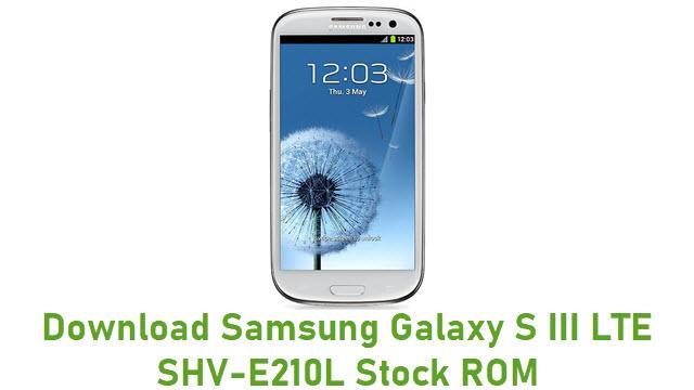 Download Samsung Galaxy S III LTE SHV-E210L Stock ROM