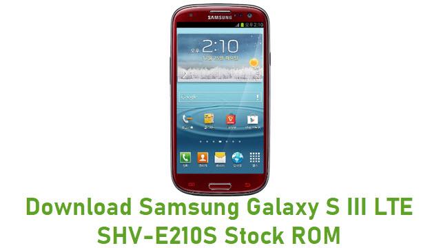 Download Samsung Galaxy S III LTE SHV-E210S Stock ROM