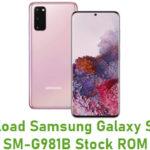 Download Samsung Galaxy S20 5G SM-G981B Stock ROM