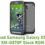 Samsung Galaxy S5 Active SM-G870F Stock ROM