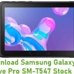 Samsung Galaxy Tab Active Pro SM-T547 Stock ROM