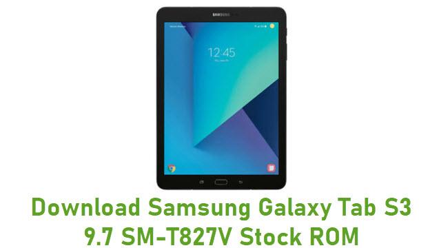 Download Samsung Galaxy Tab S3 9.7 SM-T827V Stock ROM