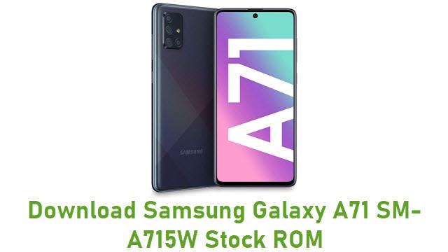 Download Samsung Galaxy A71 SM-A715W Stock ROM