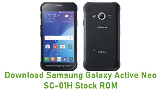 Download Samsung Galaxy Active Neo SC-01H Stock ROM