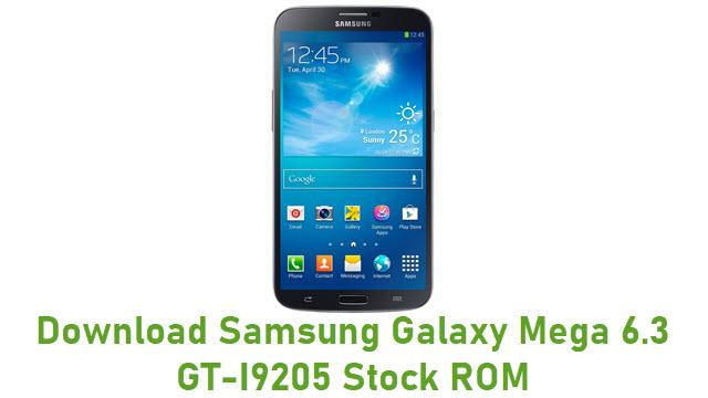 Download Samsung Galaxy Mega 6.3 GT-I9205 Stock ROM