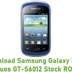 Samsung Galaxy Music Duos GT-S6012 Stock ROM