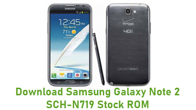 Download Samsung Galaxy Note 2 SCH-N719 Stock ROM