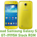 Samsung Galaxy S4 Mini GT-I9195H Stock ROM