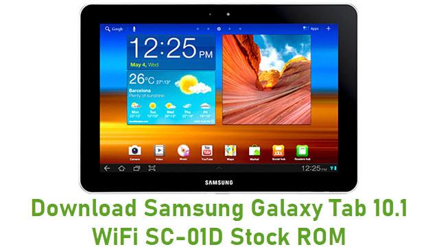 Download Samsung Galaxy Tab 10.1 WiFi SC-01D Stock ROM
