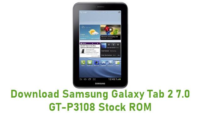 Download Samsung Galaxy Tab 2 7.0 GT-P3108 Stock ROM