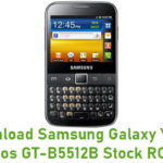 Samsung Galaxy Y Pro Duos GT-B5512B Stock ROM