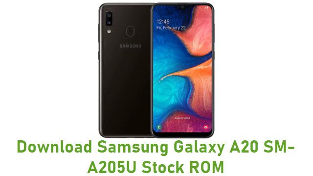 Download Samsung Galaxy A20 SM-A205U Stock ROM