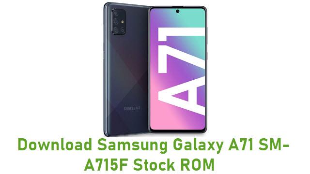Download Samsung Galaxy A71 SM-A715F Stock ROM